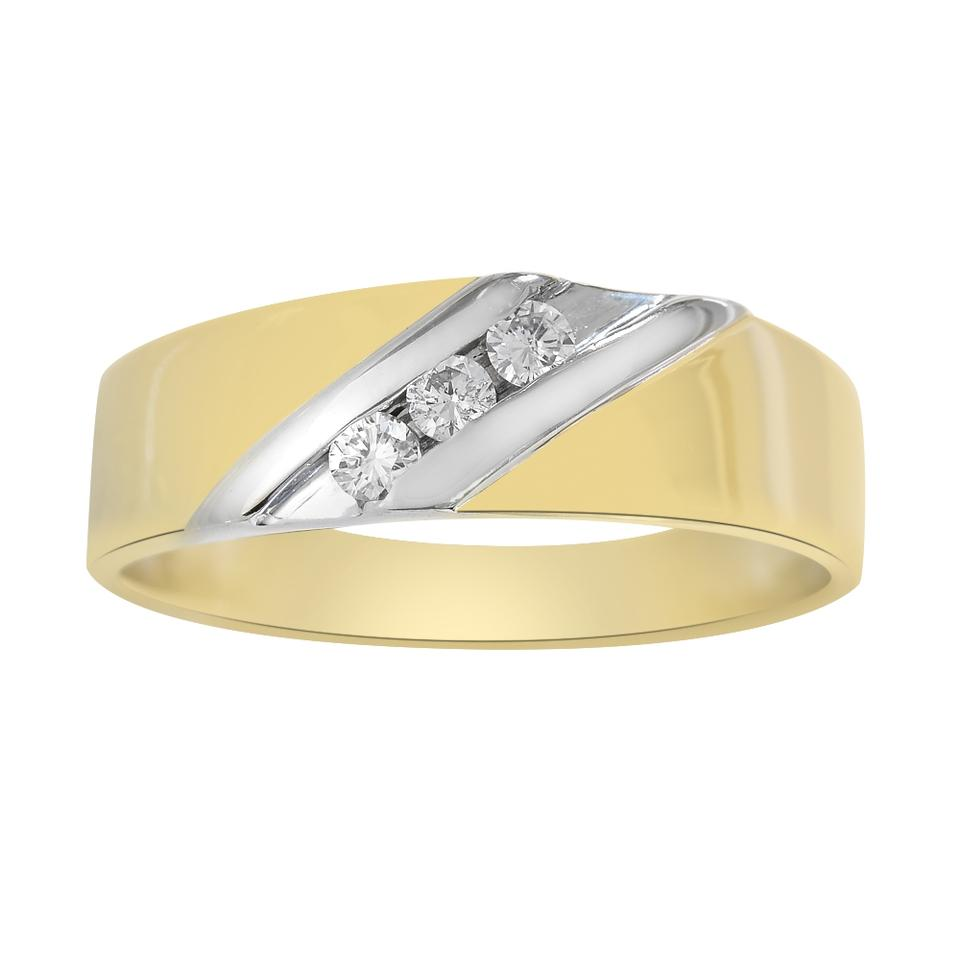 Avital Co Jewelry 015 Carat Diamond Mans Wedding Band 675mm 14k Two Tone Gold: 11 Mm Wedding Bands At Reisefeber.org