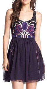 Free People Fit And Flare Scoop Back Sleeveless Party Party Dress
