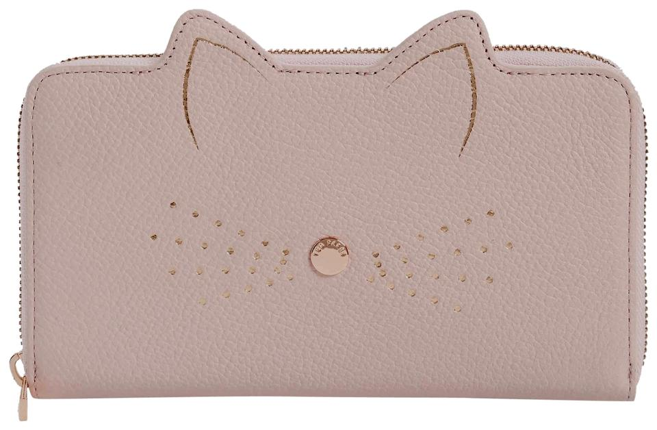 4038f38391f3e7 Ted Baker Pink Cat Whiskers Leather Mini Make Up Bag Wallet - Tradesy
