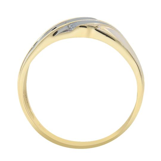 Avital & Co Jewelry 0.12 Carat Diamond Round Cut Mens Wedding Band 10K Two Tone Gold Image 1