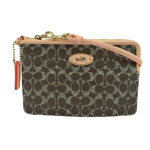 Coach Accessories Wristlet in Light Saddle/ Apricot