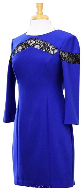 Preload https://img-static.tradesy.com/item/24362259/max-and-cleo-blue-black-cobalt-lace-inset-sheath-short-casual-dress-size-8-m-0-1-650-650.jpg