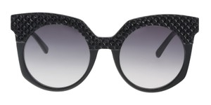 MCM MCM MCM643SR 001 Black Round Cat Eye Sunglasses