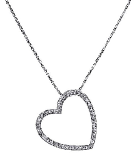 Preload https://img-static.tradesy.com/item/24362376/avital-and-co-jewelry-white-055-carat-pave-diamond-heart-pendant-on-wheat-link-chain-14k-g-necklace-0-1-540-540.jpg