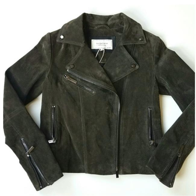 Bagatelle Army green Leather Jacket Image 1