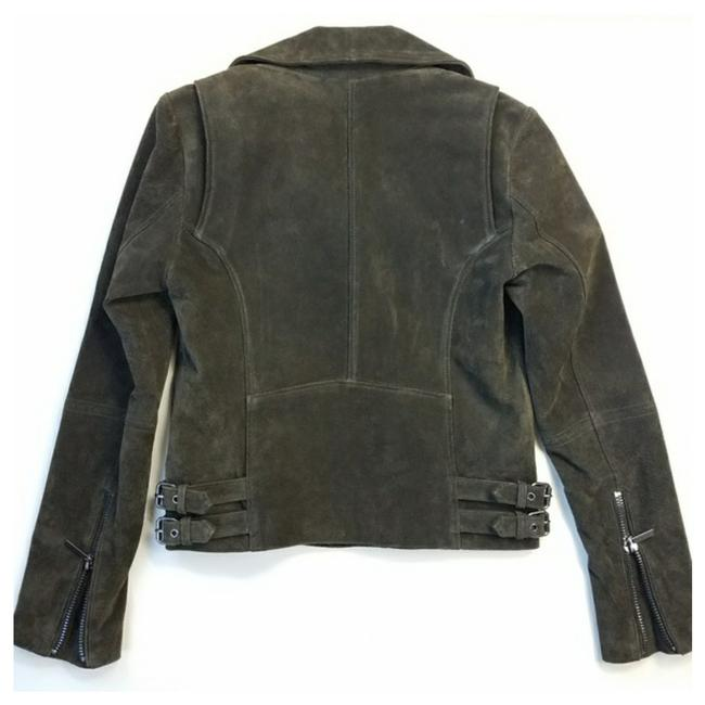 Bagatelle Army green Leather Jacket Image 2