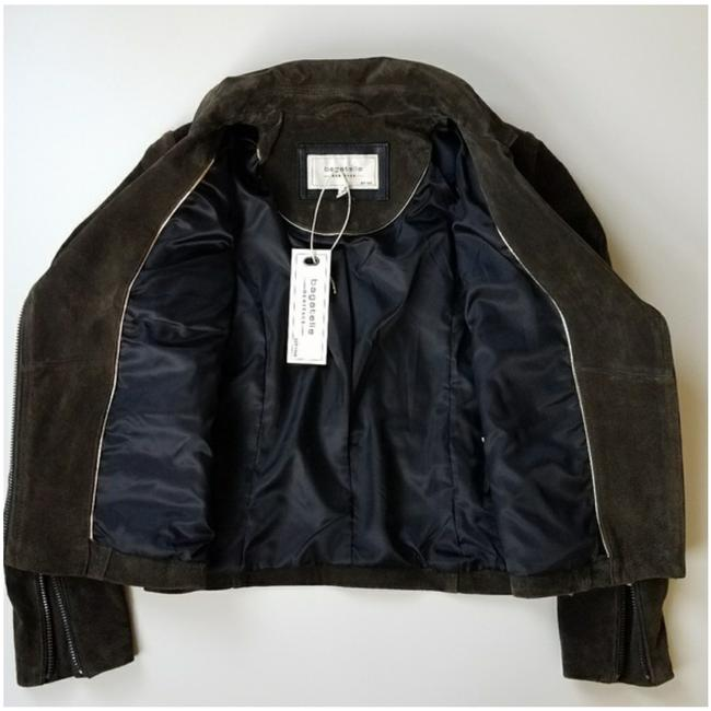 Bagatelle Army green Leather Jacket Image 3