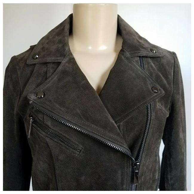 Bagatelle Army green Leather Jacket Image 4