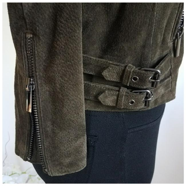 Bagatelle Army green Leather Jacket Image 5