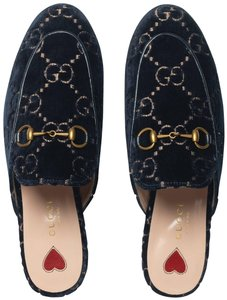 Gucci Slippers Navy Flats