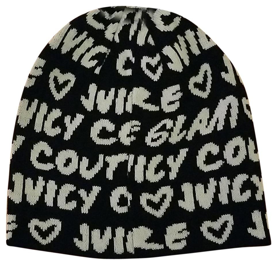Juicy couture black and white beanie hat tradesy jpg 960x922 Juicy couture  hats 0b274f45fb3b