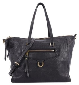 Louis Vuitton Leather Tote in Navy Blue