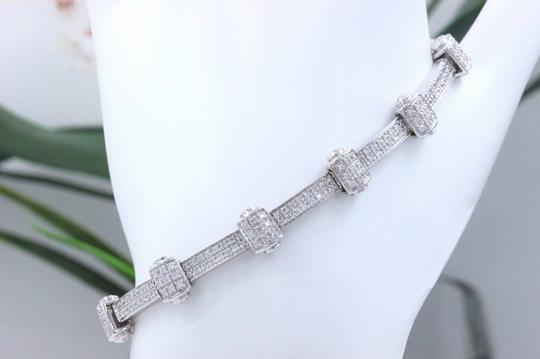 PHILIPPE CHARRIOL PHILIPPE CHARRIOL 18k White Gold Pave Diamond Bracelet 1.00 tcw Image 2