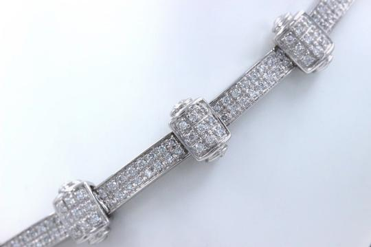 PHILIPPE CHARRIOL PHILIPPE CHARRIOL 18k White Gold Pave Diamond Bracelet 1.00 tcw Image 3