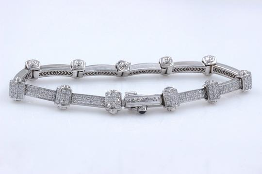 PHILIPPE CHARRIOL PHILIPPE CHARRIOL 18k White Gold Pave Diamond Bracelet 1.00 tcw Image 5