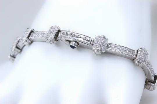 PHILIPPE CHARRIOL PHILIPPE CHARRIOL 18k White Gold Pave Diamond Bracelet 1.00 tcw Image 6