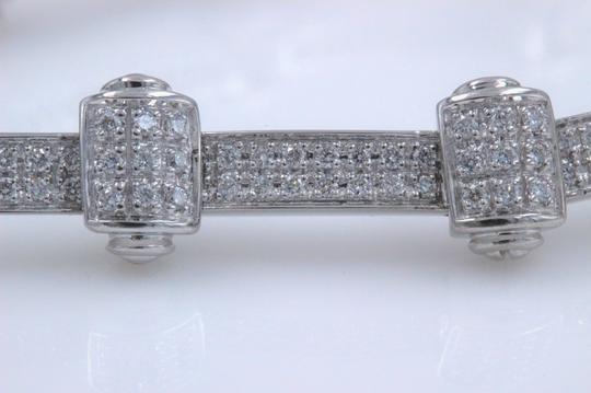 PHILIPPE CHARRIOL PHILIPPE CHARRIOL 18k White Gold Pave Diamond Bracelet 1.00 tcw Image 7