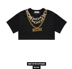 MOSCHINO [tv] H&M T Shirt Black with Appliques