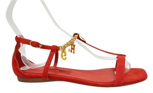 Carolina Herrera Suede Red Sandals