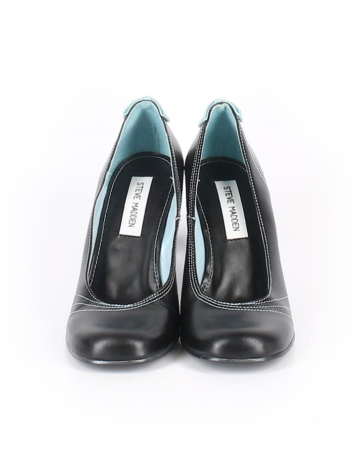 0e1642b65ae Steve Madden Black Blue Leather Mary Jane Style Pumps Size US 8 ...