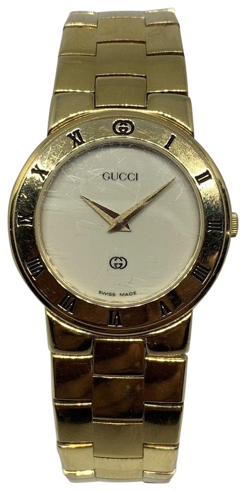 cb66872becb Gucci Vintage GUCCI 18k GOLD PLATED SWISS WATCH QUARTZ MODEL 26mm Watch  Image 0 ...
