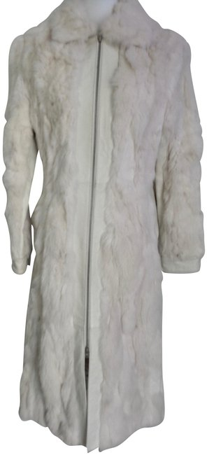 Item - Off White Gloves Included Cream Long Coat Size 2 (XS)