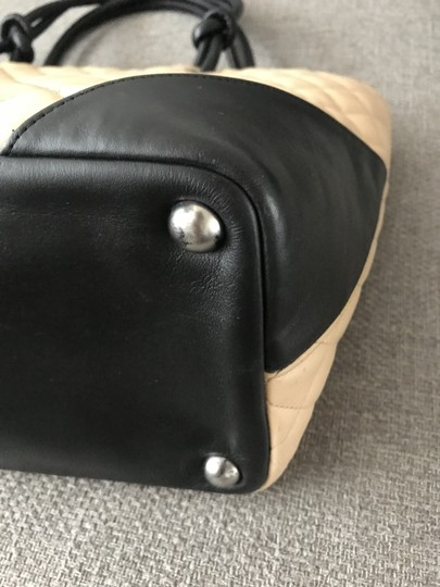 Chanel Black Shopping Cambon Tote in Beige