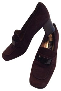 Stuart Weitzman Brown Suede & Leather Mules