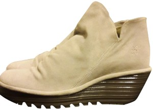 FLY London Wedge Suede Cement Boots