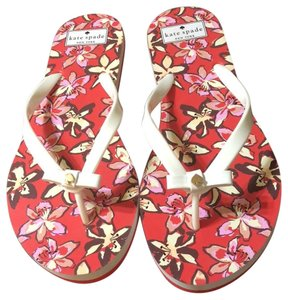 Kate Spade White and Pink Sandals