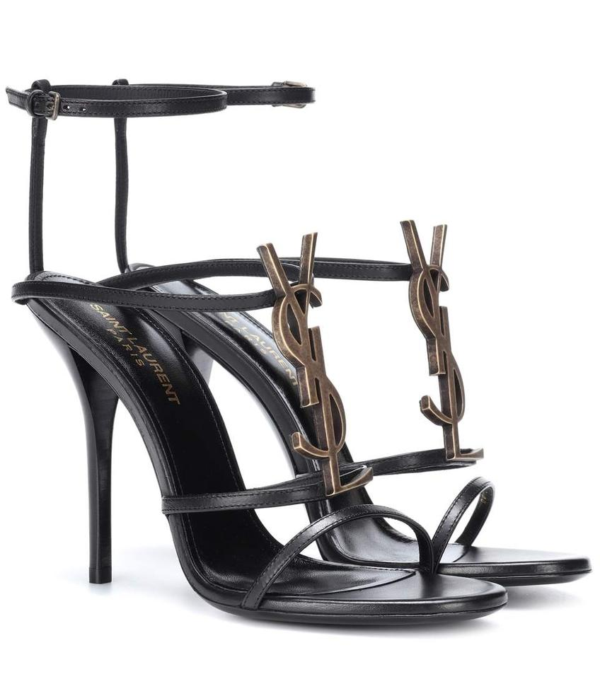 6178e93e68f Saint Laurent Ysl Cassandre Cassandra Sandals Gold black Pumps Image 0 ...