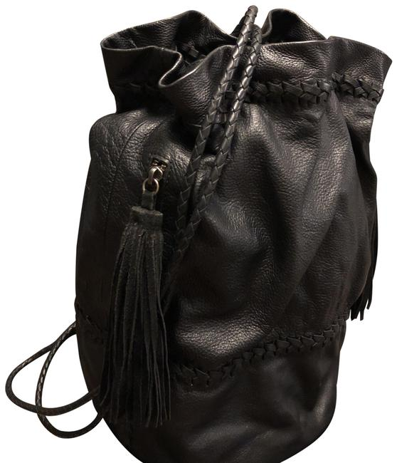 Item - Braided Black Leather Backpack