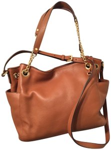 MICHAEL Michael Kors Leather Tote in Cognac