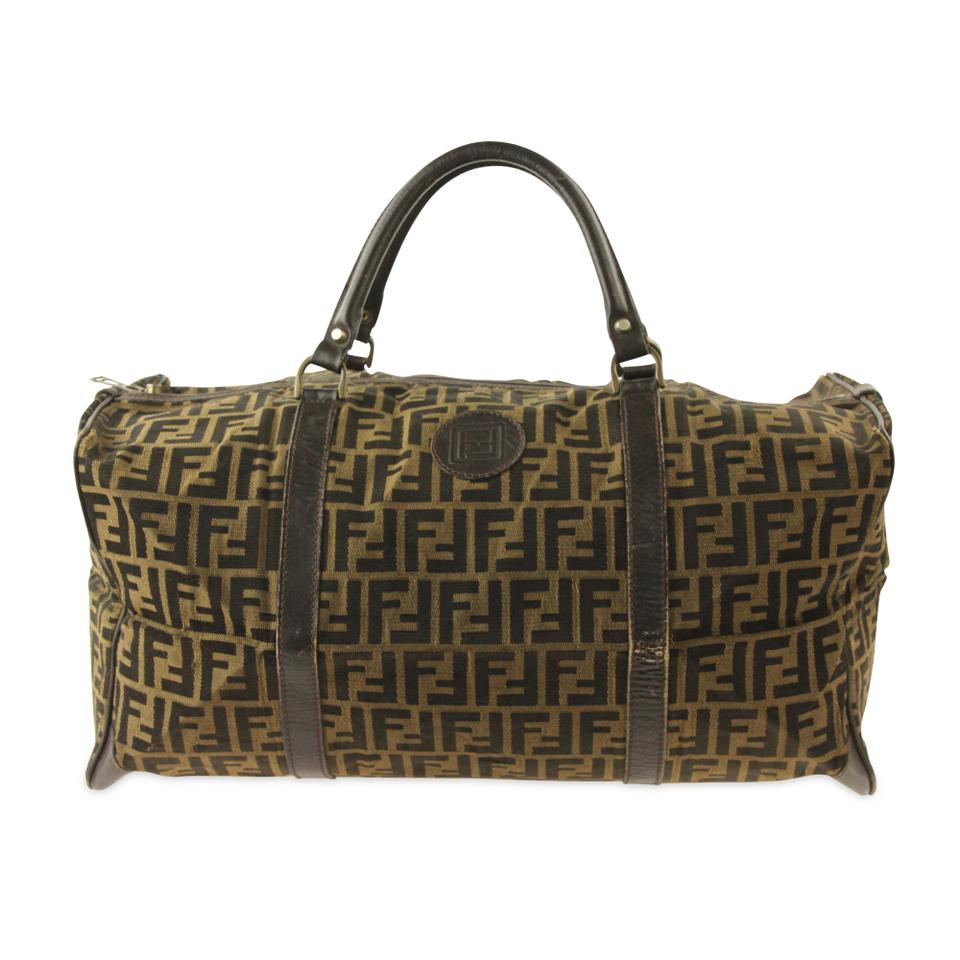 27d26a44213b Fendi Duffle Tobacco Zucca Brown Canvas Weekend Travel Bag - Tradesy