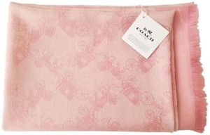 Coach Coach BICOLOR HORSE AND CARRIAGE OBLONG F26587 BLUSH SCARF