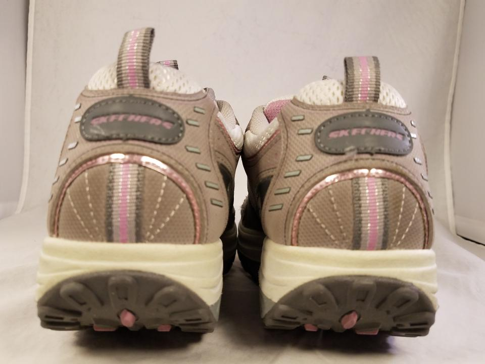 Skechers Gray and White Shape Ups Woman Walking Eur 38 Sneakers Size US 8 Regular (M, B)