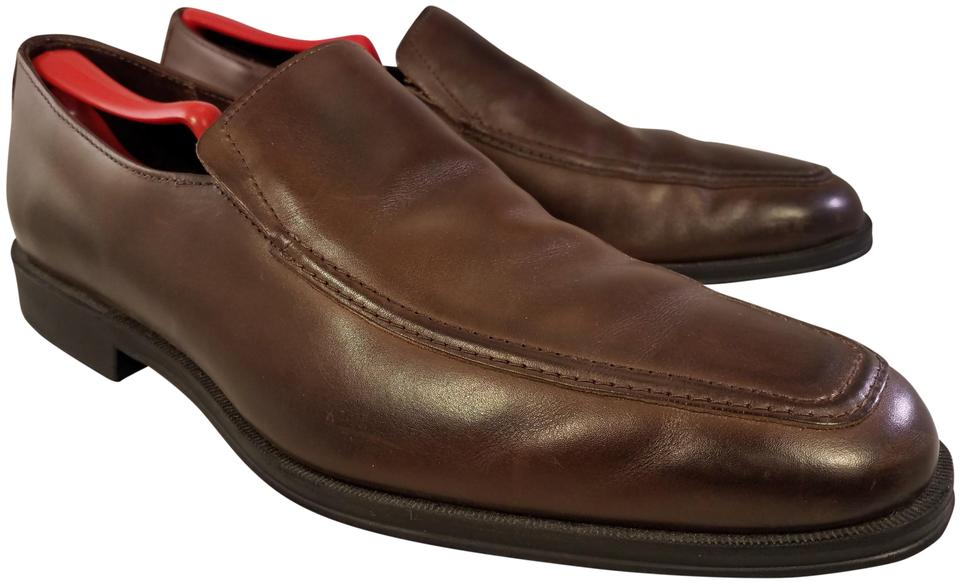 50f6d0e1bf6 Allen Edmonds Brown Man Loafers Slip Ons Leather Formal Shoes Size ...