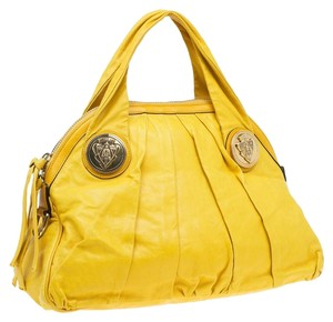Gucci Hysteria Crest Zipped Pocket Satchel in Yellow ab3d1980aa795