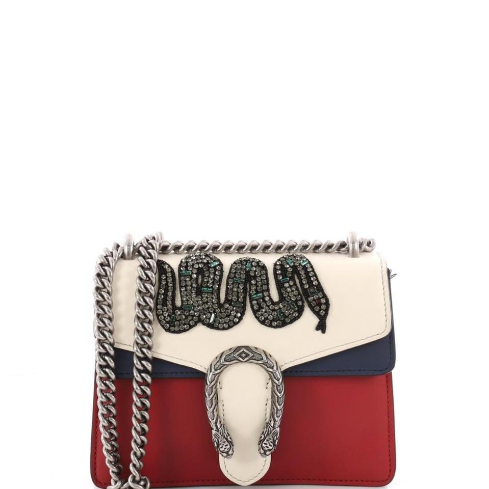 3524cd6539d Gucci Dionysus Mini White Red Blue Leather Cross Body Bag - Tradesy