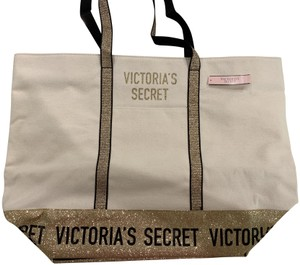 Victoria's Secret Glitter Tote in Gold