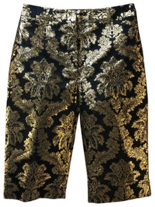 Dolce&Gabbana Brocade Floral Dress Shorts Black and Gold