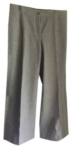 Celine Wool Flat Wide Leg Pants gray