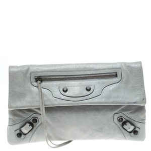 Balenciaga Grey Clutch