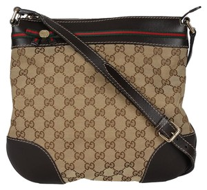 Gucci Gg Monogram Canvas Vintage Mayfair Cross Body Bag