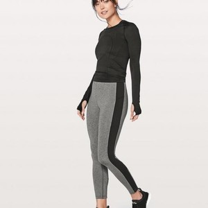 Lululemon Rare Lululemon Box It Out Tight leggings Heathered Grey and Black