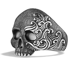 David Yurman WAVES SKULL STERLING SILVER RING