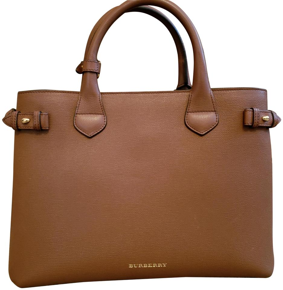 86ade147db1 Burberry Medium Banner Brown Leather Tote - Tradesy