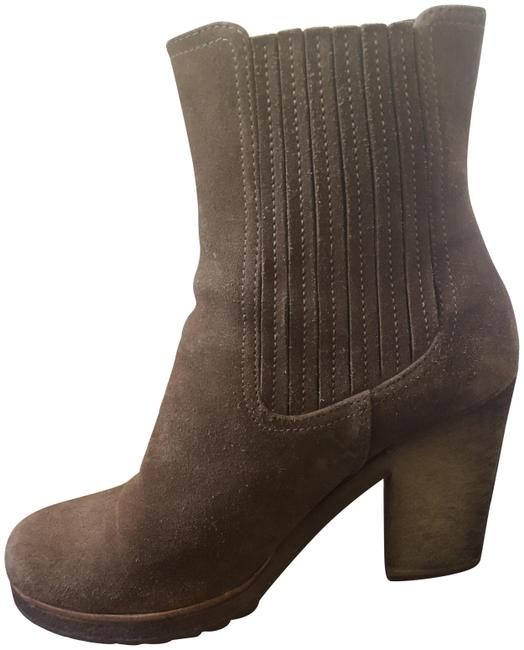 Item - Brown Sport Suede Pull On Lug Sole Boots/Booties Size EU 37.5 (Approx. US 7.5) Regular (M, B)