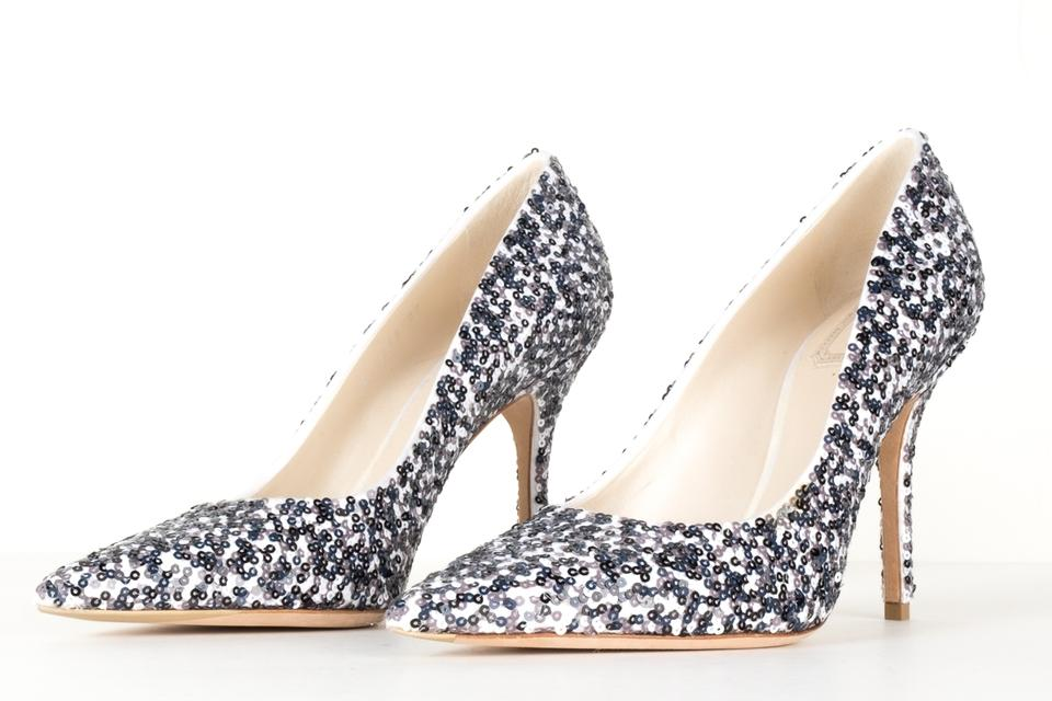0e3865ed2f Dior Black and White Christian Sequin Embellished Heel Pumps Size EU 37  (Approx. US 7) Regular (M, B) - Tradesy