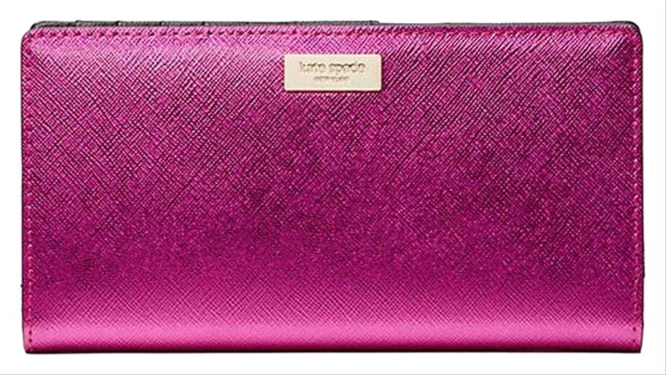 d6298cb05a96 Kate Spade Kate spade Laurel Way Stacy Wallet Baja Rose Metallic Pink Image  0 ...